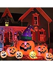 Kalolary 7.9FT Halloween Opblaasbare Decoraties, Opblazen Pompoen Decoratie voor Yard Pompoen Inflatables Outdoor Decoraties met ingebouwde LEDs Halloween Outdoor Yard Decoraties