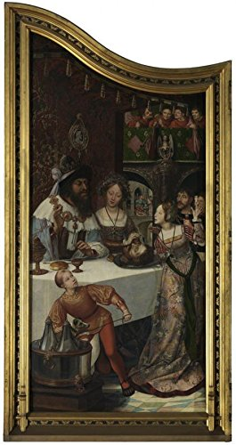 Oil Painting 'Quinten Massijs,Altarpiece Of The Guild Of The Joiners L,1466-1529' 20 x 38 inch / 51 x 96 cm , on High Definition HD canvas prints is for Gifts - Store City Hours Myer