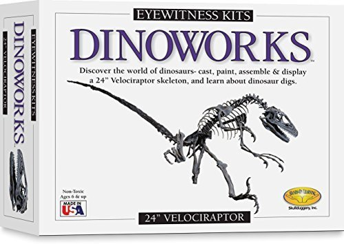Skullduggery Eyewitness Kit Dinoworks Velociraptor Skeleton Casting Kit by Skullduggery