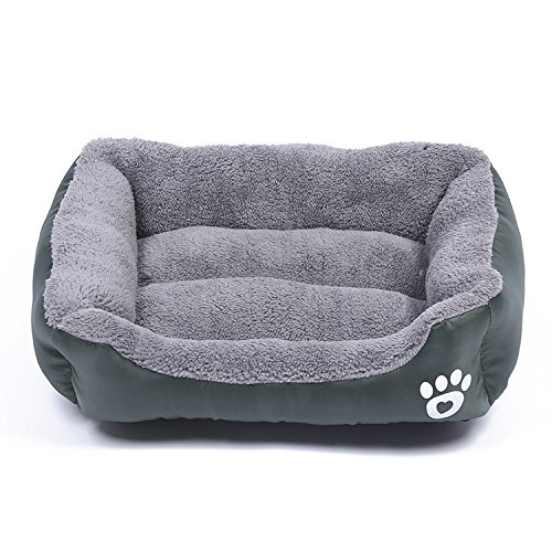Plush Small Large Dog Puppy pet Sleep Bed Cushion cat Warm Comfortable mat nest,Dark Green,S-Pets Within 3kg for $<!--$29.02-->
