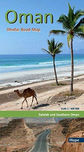 Oman: Dhofar Road Map: Salalah and Southern Oman. GPS-taugliche Straßenkarte