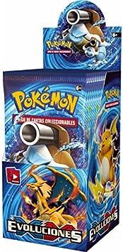 Pokemon Caja con 18 sobres Pokemon Especiales EVOLUCIONES!!: Amazon.es: Juguetes y juegos