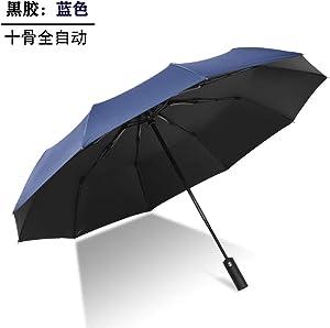Folding umbrella - full automatic umbrella, blue