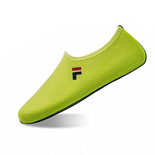 QYTBM Mens Womens Water Yoga Shoes Sports Socks Aqua Shoes Surfinf Shoes Stockings Swimming Athletic(M,Yellow)