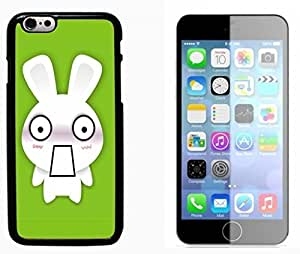 Bunny rabbit Hard Plastic and Aluminum Back Case FOR Apple iPhone 6 6G 4.7
