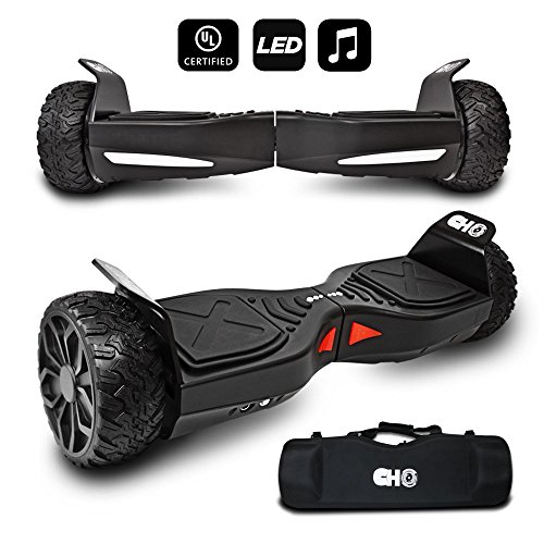 CHO TM All Terrain Rugged 6.5 Inch Wheels Hoverboard Off-Road Smart Self Balancing Electric Scooter...