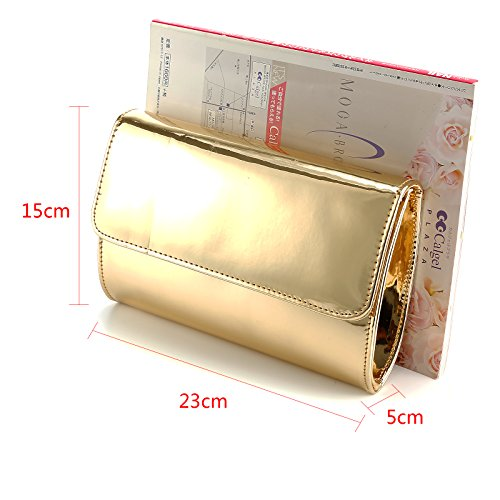 Fraulein38 Designer Mirror Metallic Women Clutch Patent Evening Bag by Fraulein38 (Image #7)