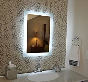 Amazon Com Wall Mounted Lighted Vanity Mirror Mam92840 28