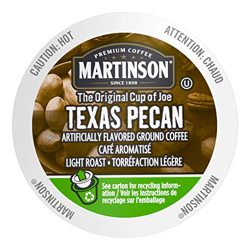 Martinson Single Serve Coffee Capsules, Texas Pecan, 24 -
