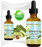 MORINGA OIL – Moringa oleifera WILD GROWTH Himalayan. 100% Pure / Natural / Undiluted/ Virgin / Unrefined. 4 Fl.oz.- 120 ml. For Skin, Hair, Lip and Nail Care. Review