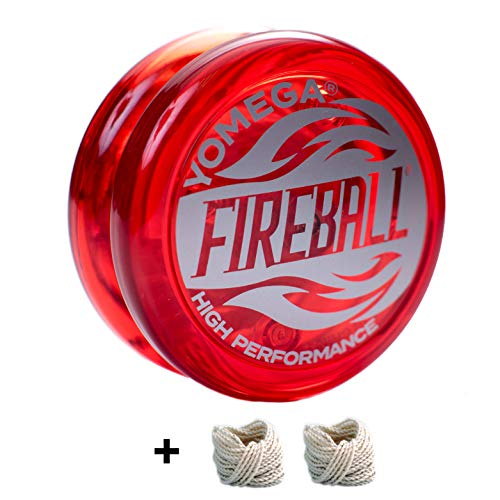 Yomega Fireball – High Performance Transaxle Yoyo, for Intermediate, Advanced and Pro Level. + Extra 2 Strings & 3 Month Warranty (Red)