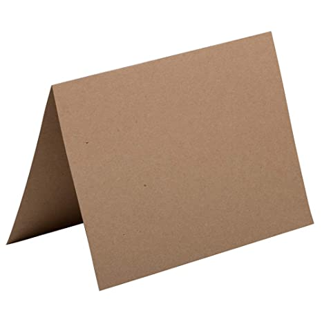 Amazon.com: JAM Foldover Tarjetas, Color café Kraft Papel ...