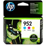 HP N9K27AN#140 952 Cyan, Magenta & Yellow Original Ink Cartridges, 3 Cartridges (N9K27AN)