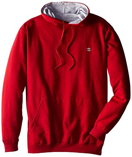 Champion Men's Big-Tall Fleece Pullover Hoodie, Cardinal Red, 3X/Tall Big And Tall Fleece Sweatshirt