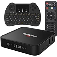 EVANPO Android TV Box Amlogic S905X Full HD 4K Quad Core Speed Wifi Smart Mini PC Android TV Player 1G/8G with Wireless Keyboard