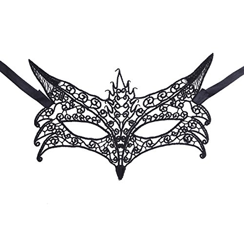 iEFiEL Women's Halloween Masquerade Dance Party Eye Mask Prom Accessory Fox One Size (Catwomen Halloween Costume)