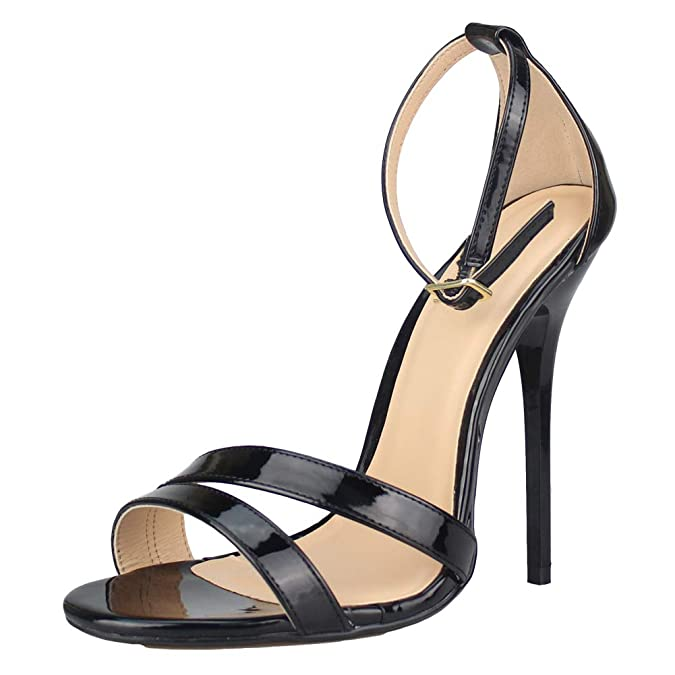 4cb0b690f49d MAIERNISI JESSI Unisex Men s Women s Inclined Straps Ankle Strap Stiletto  High Heel Sandals  Amazon.co.uk  Shoes   Bags