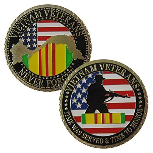 - US. Military Vietnam Veterans 24K Gold Plated Challenge coin 1061# by lovesports2013