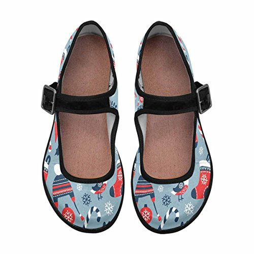 InterestPrint Womens Comfort Mary Jane Flats Casual Walking Shoes Multi 10 oytqFw2g