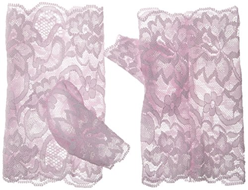 Pink Lace Fingerless Gloves (MUSIC LEGS Women's Lace Fingerless Gloves, Baby Pink, One Size)