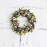 Heayoup Simulate Pretty Daisy Wreath Garland Lintel Floriation Hanging Pendant Door Wedding Festival Decoration -40 Light Purple 30cm