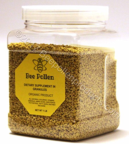 BEE POLLEN Pure Organic Bee Pollen Granules 1 lb FDA Certified (Organic Bee Pollen)