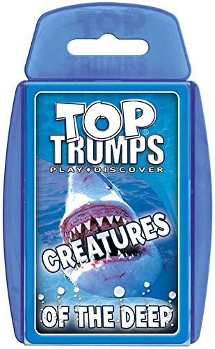 TOP Trumps - Creatures The Deep! Perfect Indoors, Travelling, Camping Holidays by Top Trumps