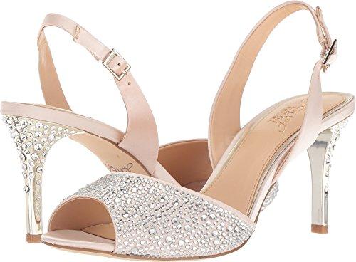 Badgley Mischka Jewel Women's Tanner Heeled Sandal, Champagne, 9 Medium (Badgley Mischka Champagne Satin)