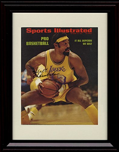 Framed Wilt Chamberlain Sports Illustrated Autograph Replica Print - Lakers World Champs!