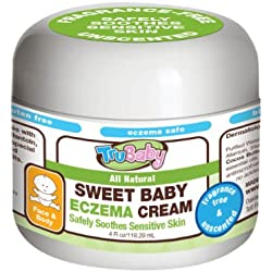 TruBaby Sweet Baby Eczema Cream, Soothing relief therapy, Unscented, 4 Oz