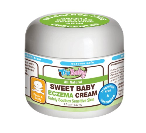 Comforting Butter Body Wash - TruBaby Sweet Baby Eczema Cream, Soothing relief therapy, Unscented, 4 Oz