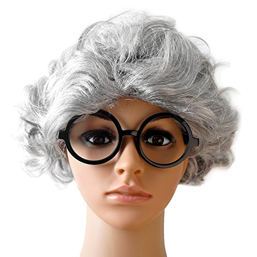 Nyotalia Cosplay Costumes (Old Man Custom Set for Kids Glasses Wig Cosplay Set By MS.CLEO (Old Woman))