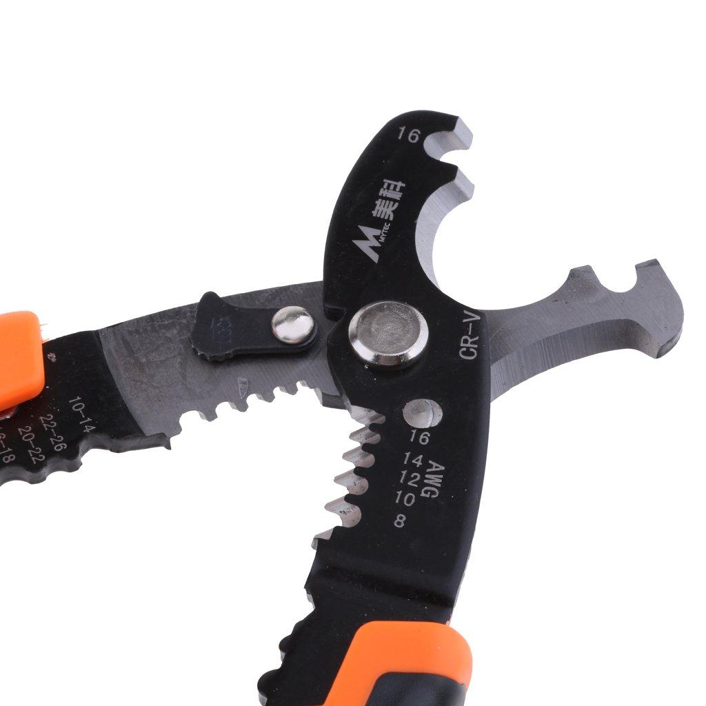 Sharplace D/énudeur Multi Tool Stripper Pince /à D/énuder Couverture de Connexion Auto-ajustement Size #A