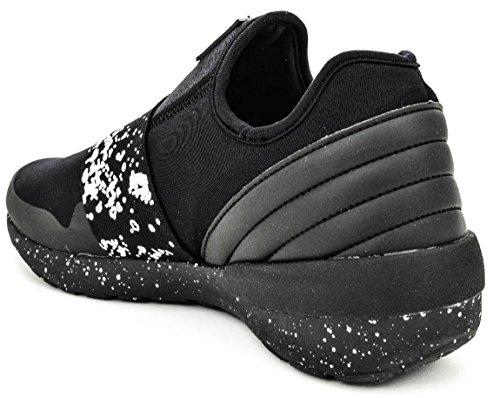 Asfvlt , Herren Sneaker schwarz schwarz 45