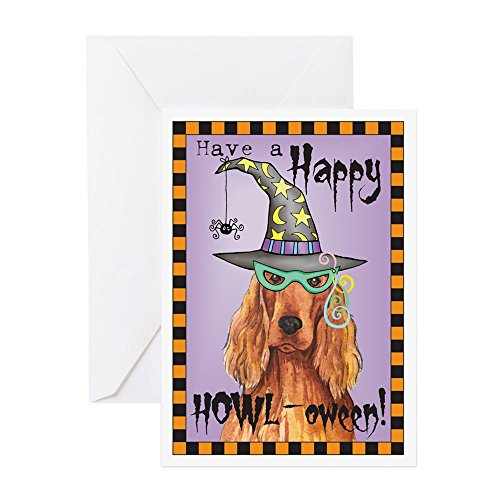 CafePress Halloween Irish Setter Greeting Card, Note Card, Birthday Card, Blank Inside Glossy]()