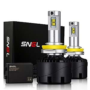 SNGL Super Bright LED Headlight Conversion Kit - Adjustable-Beam Bulbs - H11 ( H8 , H9 ) - 110w 12,400Lm - 6000K Bright White - 2 Yr Warranty