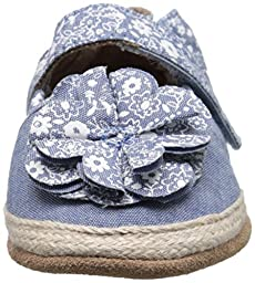 Robeez Jourdan Espadrille Soft Sole Crib Shoe (Infant), Chambray, 12-18 Months M US