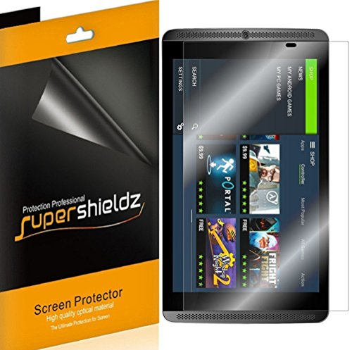 [3-Pack] Supershieldz- Anti-Glare & Anti-Fingerprint (Matte) Screen Protector for NVIDIA Shield Tablet/Tablet K1 -Lifetime Replacements Warranty - Retail Packaging