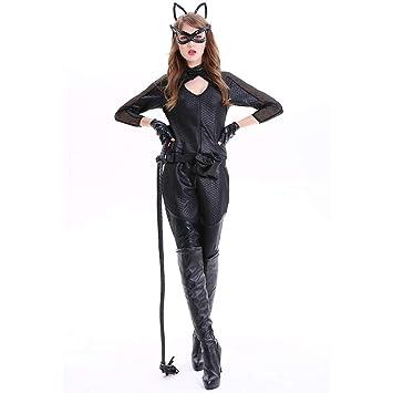Disfraz De PU De Cuero De Patente Catwoman Onesies Wetlook para ...