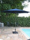 8′ Brand new Outdoor Garden Patio Aluminum Crank Tilt Umbrella Blue CBM1290 Review