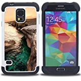 - Sunset Beautiful Nature 84/ 3in1 Deluxe Printed Hard Soft High Impact Hybrid Armor Defender Case - SHIMIN CAO - For Samsung Galaxy S5 I9600 G9009 G9008V