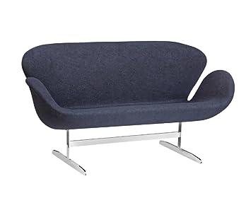 Super Amazon Com Fine Mod Imports Swan Fabric Sofa Black Creativecarmelina Interior Chair Design Creativecarmelinacom