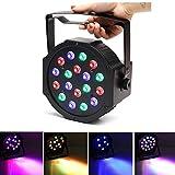 LED Par Lights Stage Lighting - SOLMORE DMX-512 RGB 18 LED DJ Disco Light ...