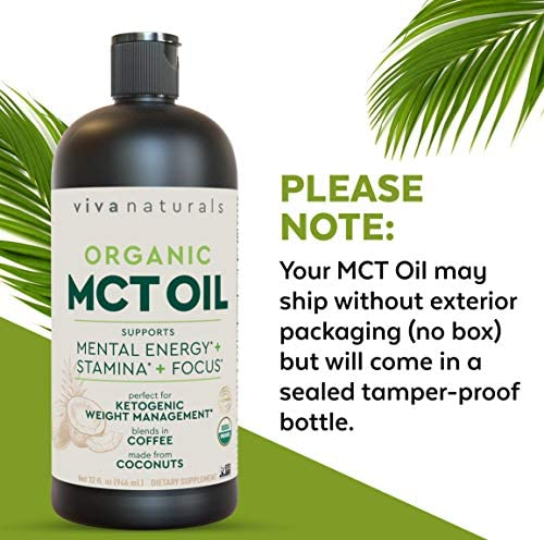 Organic MCT Oil for Morning Coffee - Best MCT Oil Keto Supplement for Sustained Energy, Paleo Diet Certified, 32 fl oz 6