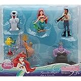 Disney Princess Exclusive Little Mermaid Figure Set - 7 pc Ariel Figurine Playset
