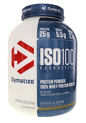 Dymatize Nutrition ISO 100 Whey Protein - Cookies and Cream 5 lbs. (Cookies 100 Dymatize Iso)