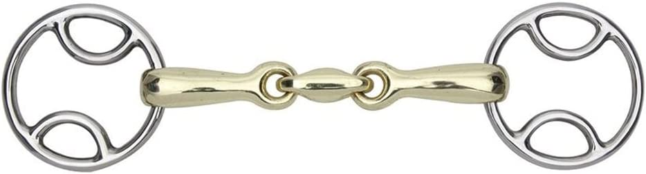 """Shires Brass Alloy Bevel Wilkie Bit With Lozenge 5/"""" or 5.5/"""" 4.5/"""""""