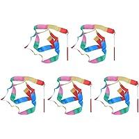 Toyvian 5 parça Dans Kurdelesi Flama Ritmik Jimnastik Kurdelesi Çocuk Parti Malzemeleri (Renkli Desen)
