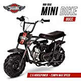 Mega Moto Gas Mini Bike 80CC/2.5HP without Suspension (MM-B80-BR)(Black)