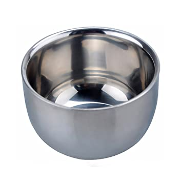 akstore menu0027s durable shave soap cup shining high quality double layer stainless steel heat insulation smooth